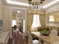 Квартира на Проспекте мира - гостиная и столовая