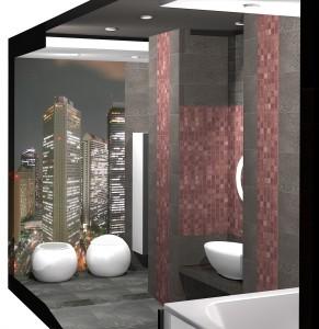 Hi-tech стиль ванной комнаты
