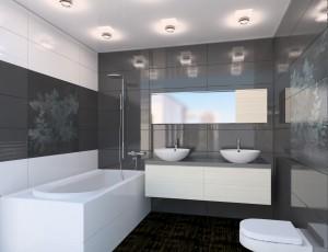 Современный стиль ванной комнаты