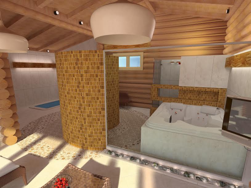 Использование керамической плитки в интерьере сауны
